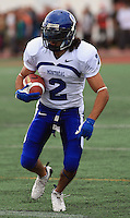 Universite de Montreal Carabins' Hamid Mahmoudi in CIS football action against the Rouge et Or at the universite Laval stadium in Quebec City, September 7, 2008. Laval won 17-6 before a crowd of 15,275.