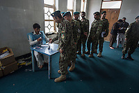 Voting gets underway in Jalalabad city, capital of Nangarhar province in Afghanistan for the presidential elections. 5-4-14