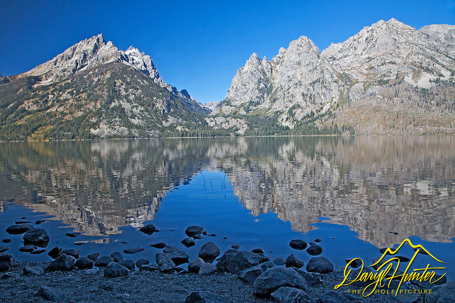 Jenny Lake Reflect the Grand Tetons. Jenny is one of the Glacial Moraine Lakes that line the foot of the Grand Tetons in Grand Teton National Park.