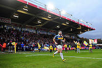 Will Collier of Harlequins runs out onto the pitch on the occasion of his 100th appearance for the club. Aviva Premiership match, between Harlequins and Bath Rugby on November 27, 2016 at the Twickenham Stoop in London, England. Photo by: Patrick Khachfe / Onside Images