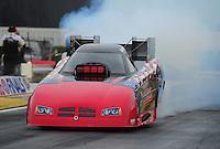 Nov. 10, 2011; Pomona, CA, USA; NHRA funny car driver Gary Densham during qualifying at the Auto Club Finals at Auto Club Raceway at Pomona. Mandatory Credit: Mark J. Rebilas-.