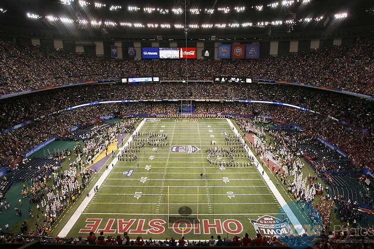 07 JAN 2008:  Ohio State University takes on Louisiana State University during the BCS National Championship held at the Superdome in New Orleans, LA.  Jamie Schwaberow/NCAA Photos