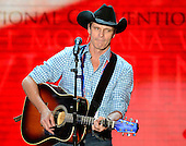 Lane Turner rehearses for his performance at the 2012 Republican National Convention in Tampa Bay, Florida on Monday, August 27, 2012.  .Credit: Ron Sachs / CNP.(RESTRICTION: NO New York or New Jersey Newspapers or newspapers within a 75 mile radius of New York City)