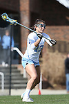 27 February 2016: North Carolina's Sammy Jo Tracy. The University of North Carolina Tar Heels hosted the University of Maryland Terrapins in a 2016 NCAA Division I Women's Lacrosse match. Maryland won the game 8-7.