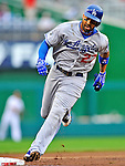 8 September 2011: Los Angeles Dodgers outfielder Matt Kemp in action against the Washington Nationals at Nationals Park in Washington, DC. The Dodgers defeated the Nationals 7-4 to take the third game of their 4-game series. Mandatory Credit: Ed Wolfstein Photo