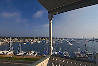Massachusetts, Martha's Vineyard, Oak Bluffs, Balcony, Wesley Hotel