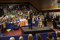 Presidential candidate Hillary Rodham Clinton speaks during a campaign stop at Westerville North High School in Westerville, Ohio, on Sunday, March 2, 2008. (Kevin Craiglow/PressPhotoIntl.com)