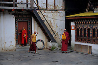 Buddhist monks at a monastry in Thimpu. Arindam Mukherjee..