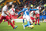 St Johnstone v Kilmarnock&hellip;15.10.16.. McDiarmid Park   SPFL<br />Murray Davidson shoots wide<br />Picture by Graeme Hart.<br />Copyright Perthshire Picture Agency<br />Tel: 01738 623350  Mobile: 07990 594431