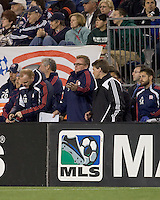 New England Revolution head coach Steve Nicol reacts to play. The Colorado Rapids defeated the New England Revolution, 2-1, at Gillette Stadium on April 24, 2010.