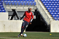 Thierry Henry (14) of the New York Red Bulls during practice on Media Day at Red Bull Arena in Harrison, NJ, on March 15, 2011.