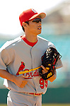 8 March 2006: So Taguchi, outfielder for the St. Louis Cardinals, heads back to the dugout during a Spring Training game against the Washington Nationals. The Cardinals defeated the Nationals 7-4 in 10 innings at Space Coast Stadium, in Viera, Florida...Mandatory Photo Credit: Ed Wolfstein.