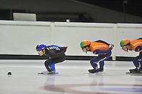 SHORTTRACK: HEERENVEEN: IJSSTADION THIALF, 14-08-2013, training Nederlandse shorttrackselectie, Yoon-Gy Kwak (KOR), ©foto Martin de Jong