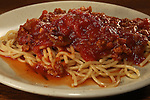 Crock pot cooked Italian spaghetti sauce with onions, garlic, Italian sausage, celery, tomatoes, and beef.  ©2016. Jim Bryant Photo. ALL RIGHTS RESERVED.