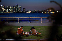People enjoy a picnic  on the west side during the Spring in New York. United States. 04/16/2012  Photo by Eduardo Munoz Alvarez / VIEWpress.