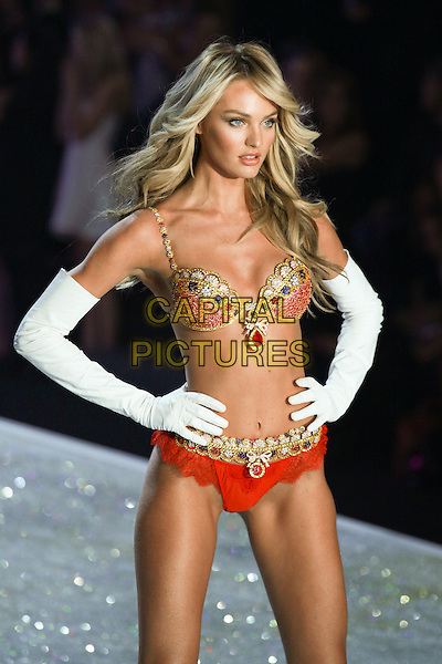 NEW YORK, NY - NOVEMBER 13, 2013: Candice Swanepoel  at the 2013 Victoria's Secret Fashion Show at Lexington Avenue Armory on November 13, 2013 in New York City, NY., USA.<br /> CAP/MPI/COR<br /> &copy;Corredor99/ MediaPunch/Capital Pictures