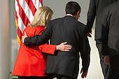 Jim Yong Kim, president of Dartmouth College and nominee to become president of the World Bank, walks away with United States Secretary of State Hillary Rodham Clinton, after U.S. President Barack Obama spoke in the Rose Garden of the White House in Washington, D.C., U.S., on Friday, March 23, 2012. Kim was born in Seoul and is a U.S. citizen. He would succeed Robert Zoellick as the head of the bank. The bank made $57 billion loans in the last fiscal year. .Credit: Andrew Harrer / Pool via CNP