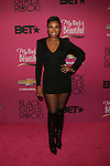 """Actress and Recording Artist Jennifer Hudson Wearing a Balmain Long Sleeve V-Neck Dress and Rockin the Christian Louboutin Mado Knee-High Lace-Up Boots Attends """"BLACK GIRLS ROCK!"""" Honoring legendary singer Patti Labelle (Living Legend Award), hip-hop pioneer Queen Latifah (Rock Star Award), esteemed writer and producer Mara Brock Akil (Shot Caller Award), tennis icon and entrepreneur Venus Williams (Star Power Award celebrated by Chevy), community organizer Ameena Matthews (Community Activist Award), ground-breaking ballet dancer Misty Copeland (Young, Gifted & Black Award), and children's rights activist Marian Wright Edelman (Social Humanitarian Award) Hosted By Tracee Ellis Ross and Regina King Held at NJ PAC, NJ"""