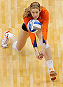 Illinois' Anna Dorn goes for a dig against UCLA during game action of the 2011 NCAA Division I Women's Volleyball National Championship Match at the Alamodome on Saturday, Dec. 17, 2011. UCLA won in four sets, 25-23, 23-25, 26-24, 25-16.