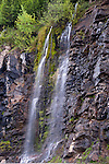 Snowmelt from Lost Mountain causing many waterfalls along Hwy 3 in BC Canada