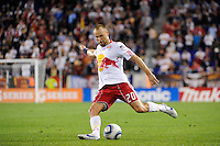 Joel Lindpere (20) of the New York Red Bulls. Real Salt Lake defeated the New York Red Bulls 3-1 during a Major League Soccer (MLS) match at Red Bull Arena in Harrison, NJ, on September 21, 2011.