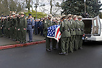 National Park Service Pallbearers carry the casket of National Park Service Ranger Margaret Anderson during a memorial service at the Pacific Lutheran University in Tacoma on January 10, 2010.  Ranger Margaret Anderson, was slain at Mount Rainier on New Years' Day when she set up a road block to intercept a vehicle, driven by Benjamin Barnes, who failed to stop at a chain-up checkpoint.  Barnes, the suspect  in the shooting was found dead was found dead the next day. He had drown in Paradise Creek.   ©2012. Jim Bryant Photo. All RIGHTS RESERVED.