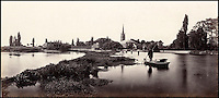 BNPS.co.uk (01202 558833)<br /> Pic: Bonhams/BNPS<br /> <br /> Prout's picture of the weir and lock at Marlow.<br /> <br /> 'Old man river, he just keeps rollin' - A remarkable collection of panoramic photographs of the Thames taken 160 years ago have emerged for auction, and they reveal how little the famous old river has changed in the last century and a half.<br /> <br /> They follow the river from London to Oxford in 40 photographs providing a fascinating insight into how the famous river looked in the mid-19th century.<br /> <br /> Londoner Victor Prout started photographing the Thames in 1857 using a camera which would produce wide-vision images because of a lens that swung round and 'scanned' sections of the picture.<br /> <br /> This rare complete copy of the first edition of Prout's pioneering panoramics has emerged for auction and is tipped to sell for &pound;12,000 when they go under the hammer at Bonhams on March 1.