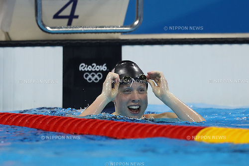 Lilly King (USA),<br /> AUGUST 8, 2016 - Swimming : <br /> Women's 100m Breaststroke Final<br /> at Olympic Aquatics Stadium <br /> during the Rio 2016 Olympic Games in Rio de Janeiro, Brazil. <br /> (Photo by Koji Aoki/AFLO SPORT)