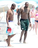 Miami Heat super stars LeBron James and  Dwyane