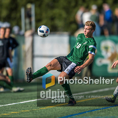 24 September 2016: Dartmouth College Big Green Midfielder Matt Danilack, a Junior from Rockville, MD, in action against the University of Vermont Catamounts at Virtue Field in Burlington, Vermont. The teams played to an overtime 1-1 tie in front of an Alumni Weekend crowd of 1,710 fans. Mandatory Credit: Ed Wolfstein Photo *** RAW (NEF) Image File Available ***