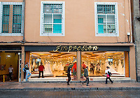 Republica de Chile street where all the stores selling bride's dresses is located. centro, centro historico, Mexico City, Mexico