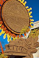 Aztec calendar, symbol of Mexico's culture and history,