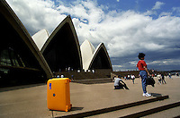 My Roncato suitcase in front of Sydney Opera House, 1995.