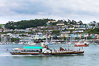 Ferry boat in the harbour of River Dart at coastal resort of Dartmouth in South Devon, England, UK