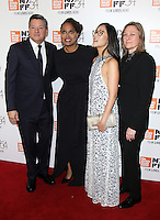 "NEW YORK, NY-September 30:Ted Sarandos, Ava DuVernay, Lisa Nishimura , Cindy Holland at 54th New York Film Festival - Opening Night Gala Presentation And ""13th"" World Premiere at Alice Tully Hall at Lincoln Center in New York. September 30, 2016. Credit:RW/MediaPunch"
