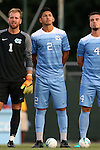 28 August 2016: North Carolina's Mauricio Pineda (2). The University of North Carolina Tar Heels hosted the Saint Louis University Billikens at Fetter Field in Chapel Hill, North Carolina in a 2016 NCAA Division I Men's Soccer match. UNC won the game 3-0.