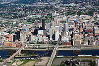 aerial photograph Saint Paul, Minnesota and the Mississippi river