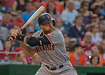 6 August 2016: San Francisco Giants right fielder Hunter Pence at bat in the second inning against the Washington Nationals at Nationals Park in Washington, DC. The Giants defeated the Nationals 7-1 to even their series at one game apiece. Mandatory Credit: Ed Wolfstein Photo *** RAW (NEF) Image File Available ***