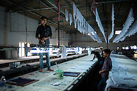 A textile factory in Bangalore. Karnataka, India.