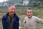 Asia, China, Yichang. Two farmers in Yichang.