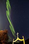 Aurora Borealis in Þingvellir National Park, south-west Iceland
