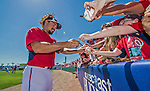 9 March 2014: Washington Nationals infielder Anthony Rendon signs autographs prior to a Spring Training game against the St. Louis Cardinals at Space Coast Stadium in Viera, Florida. The Nationals defeated the Cardinals 11-1 in Grapefruit League play. Mandatory Credit: Ed Wolfstein Photo *** RAW (NEF) Image File Available ***