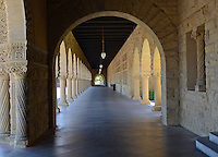 The yellow sandstone arches &amp; cloisters which are typical of the buildings  at Stanford University, Stanford, California, USA. Taken May 2013. 201305022331<br /> <br /> Copyright Image from Victor Patterson, 54 Dorchester Park, Belfast, UK, BT9 6RJ<br /> <br /> Tel: +44 28 9066 1296<br /> Mob: +44 7802 353836<br /> Voicemail +44 20 8816 7153<br /> Skype: victorpattersonbelfast<br /> Email: victorpatterson@me.com<br /> Email: victorpatterson@ireland.com (back-up)<br /> <br /> IMPORTANT: If you wish to use this image or any other of my images please go to www.victorpatterson.com and click on the Terms &amp; Conditions. Then contact me by email or phone with the reference number(s) of the image(s) concerned.