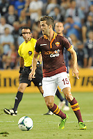 Sporting Park, Kansas City, Kansas, July 31 2013:<br /> Miralem Pjanic (15) midfield AS Roma in action.<br /> MLS All-Stars were defeated 3-1 by AS Roma at Sporting Park, Kansas City, KS in the 2013 AT &amp; T All-Star game.
