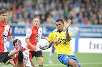 VOETBAL: LEEUWARDEN: 16-08-2015, SC Cambuur - Feyenoord, uitslag 0-2, Marvin Peersma (#23),  Bilal Basacikoglu (#14), ©foto Martin de Jong
