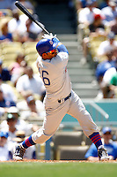 4 May 2011:#16 Aramis Ramirez at bat.  The Cubs defeated the Dodgers 5-1 during a Major League Baseball game at Dodger Stadium in Los Angeles, California.  Dodgers players are wearing Brooklyn Dodger 1940's throwback jersey uniforms and the Chicago Cubs are also wearing throwback retro jersey uniforms. **Editorial Use Only**