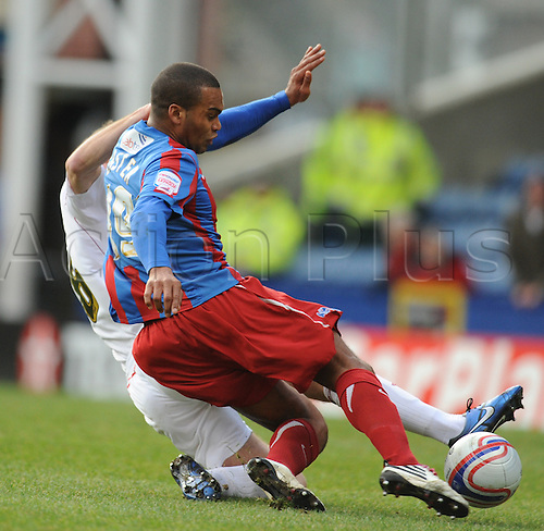 22nd January 2011 Selhurst Park London Crystal Palace V Bristol City. NPower Championship. Jermaine Easterand Louis Carey tussle for the ball