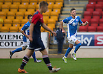 St Johnstone v Turriff Utd FC.. 02.08.16  IRN-BRU CUP 1st Round  <br />Greg Hurst celebrates his goal<br />Picture by Graeme Hart.<br />Copyright Perthshire Picture Agency<br />Tel: 01738 623350  Mobile: 07990 594431