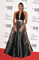 Gabrielle Union at the &quot;The Birth of a Nation&quot; 60th BFI London Film Festival Headline gala screening, Odeon Leicester Square cinema, Leicester Square, London, England, UK, on Tuesday 11 October 2016.<br /> CAP/CAN<br /> &copy;CAN/Capital Pictures /MediaPunch ***NORTH AND SOUTH AMERICAS ONLY***