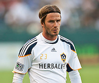 CARSON, CA – July 4, 2011: LA Galaxy midfielder David Beckham (23) before the match between LA Galaxy and Seattle Sounders FC at the Home Depot Center in Carson, California. Final score LA Galaxy 0, Seattle Sounders FC 0.